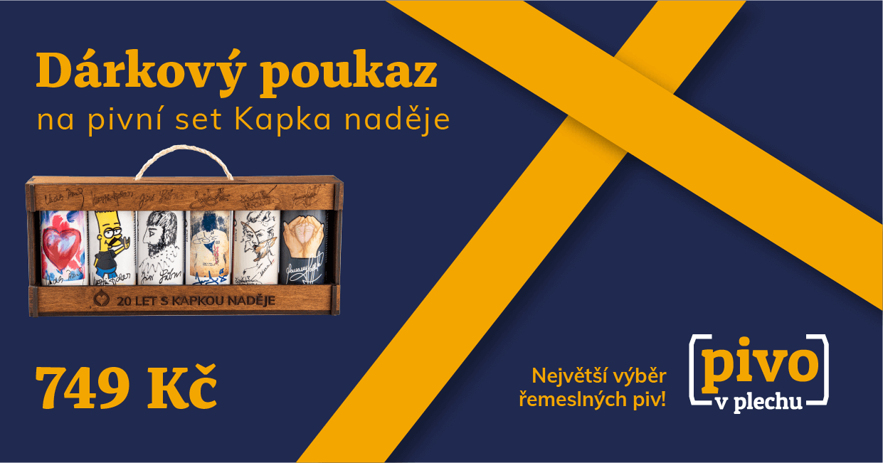 Voucher for the beer gift set Kapka naděje foundation 749 CZK